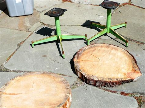 diy log table legs how to make an upcycled table from log and a chair base how tos diy