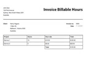 billable hours template free invoice templates invoices