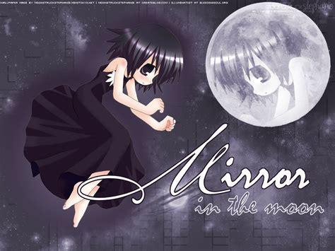 wallpaper anime mirror anime wallpaper mirror in the moon minitokyo