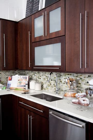 frosted glass backsplash in kitchen frameless kitchen cabinets contemporary kitchen the