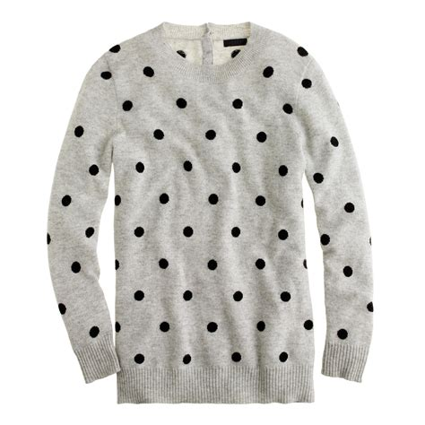 Sweater Malilkids Grey Dot Pink collection polka dot sweater j crew