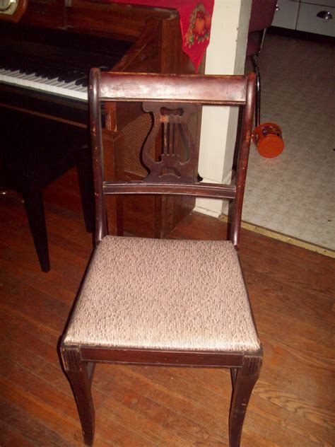 Vintage Early 1940's Lyre Back Dining Room Chairs