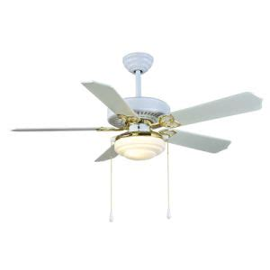 china 52 quot ceiling fan with lighting white and gold china
