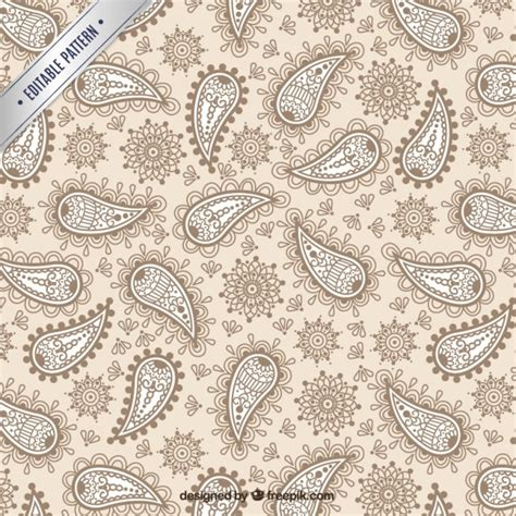 ornamental pattern ai ornamental paisley pattern vector free download