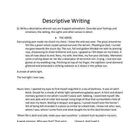 sles of descriptive essay sle of descriptive essay about a person 28 images sle