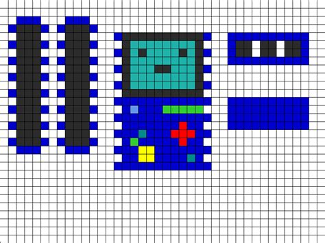 3d perler bead patterns 3d beemo sides front top bottom perler bead pattern bead