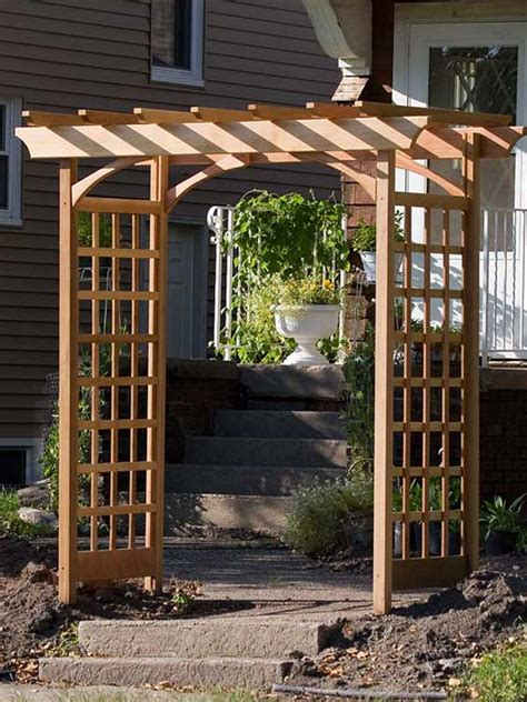 How To Build An Arbor Trellis by How To Build A Simple Garden Arbor The Garden Glove