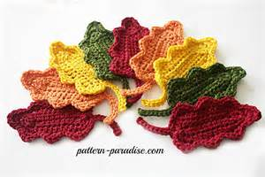Colorful Throw Rugs Free Crochet Pattern Fall Oak Leaves Pattern Paradise