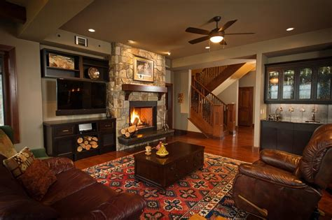 Rustic Bedroom Decorating Ideas by Fireplace Next To Tv Living Room Traditional With Big And