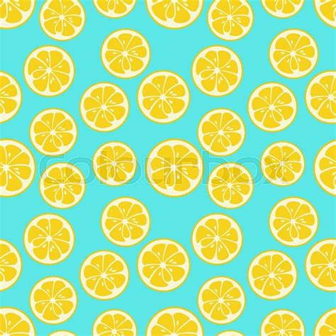 cute lemon pattern cute seamless pattern with yellow lemon slices tasty