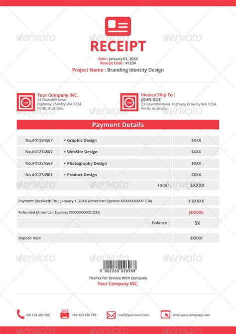 receipt template indesign gstudio invoices and receipt template by terusawa