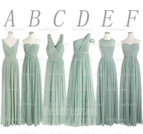 Bridesmaid Dress Material Names - dusty green bridesmaid dress mismatched bridesmaid dress
