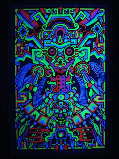 free black light posters third eye mylar aztec mask blacklight poster vintage