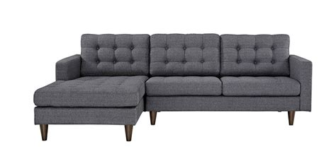 shallow depth sectional sofa shallow sofa depth best small modern sectionals freshome