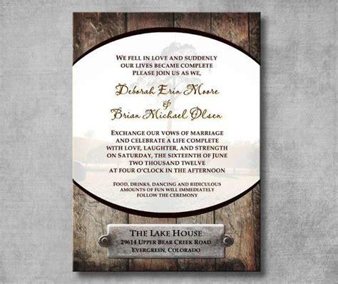 Wedding Invitation Ai by Rustic Wedding Invitations Printable Psd Ai Vector Eps On