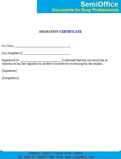 College Noc Letter No Objection Certificate From Or College