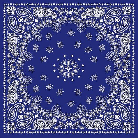 bandana pattern ai quot blue bandana quot art prints by freegoosie redbubble