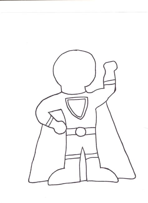 free coloring pages of superhero outline