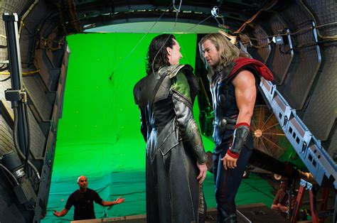 Thor Movie Clips And Behind The Scenes Footage Collider | 20 behind the scenes photos of heroes and villains getting