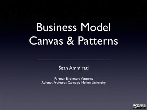 pattern business model canvas business model canvas patterns