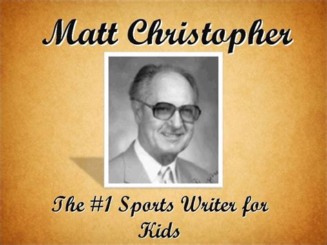 matt christoph matt christopher the 1 sports writer for