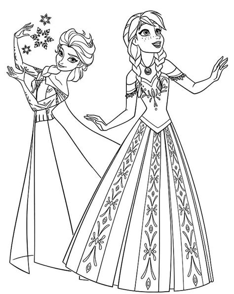 Disney Princess Elsa Coloring Pages Coloring Princess Frozen