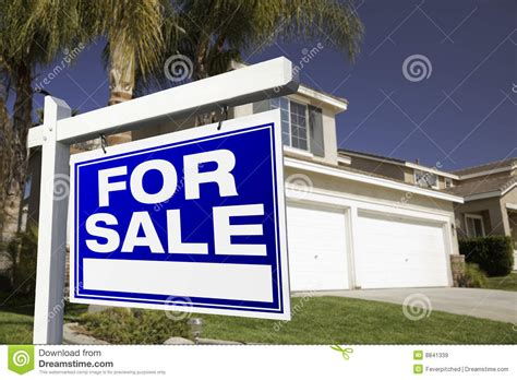 for sale real estate sign and house royalty free stock