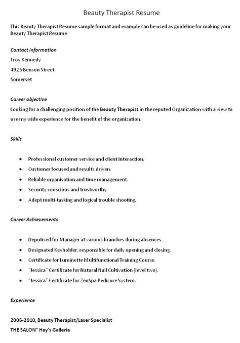 cv templates for beauty therapist liability insurance for beauty and bodywork professionals