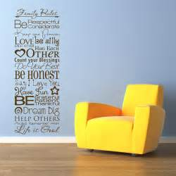 Wall Stickers Sayings family rules quote sayings wall decals stickers graphics