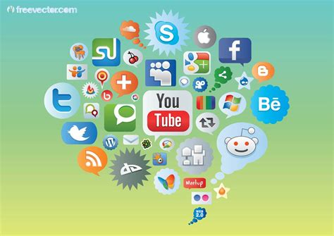 imagenes de exeso de redes sociales social media icons vector art graphics freevector com