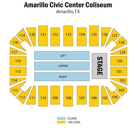 amarillo civic center seating chart trans siberian orchestra march 25 tickets amarillo