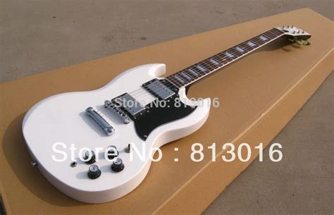 Inlay White best guitar customisd oem sg snow white color square inlay fret board stock guitars free