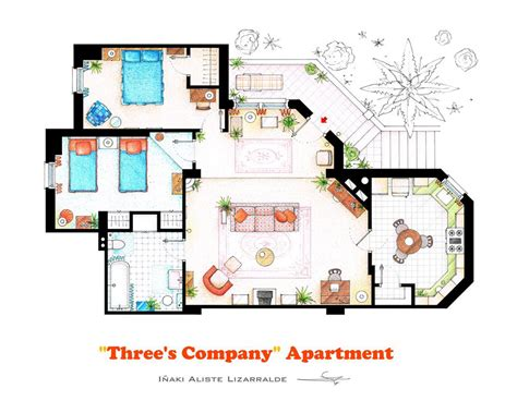 10 of Our Favorite TV Shows Home & Apartment Floor Plans Design Milk