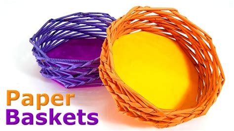 A Paper Basket - how to make paper baskets