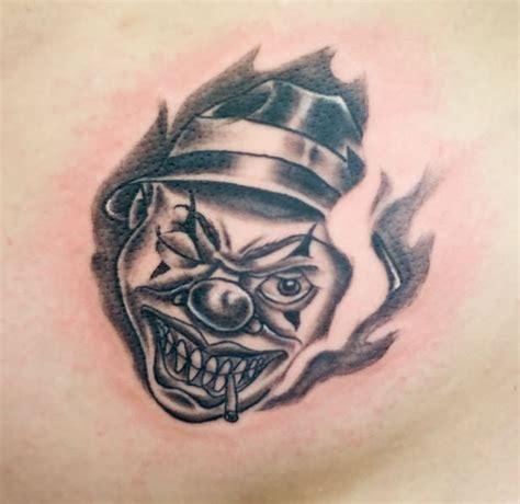 gangster joker tattoo designs clown images designs