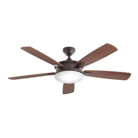 oiled bronze ceiling fan home decorators collection daylesford 52 in led indoor