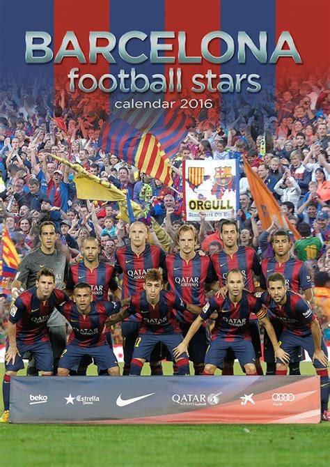 Calendar 2018 Football Barcelona Football Calendars 2018 On Abposters