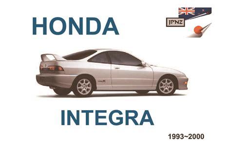 service and repair manuals 1993 acura integra security system honda integra car owners service manual 1993 2000