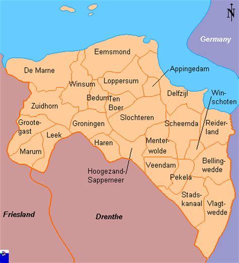netherlands map groningen clickable map of groningen netherlands