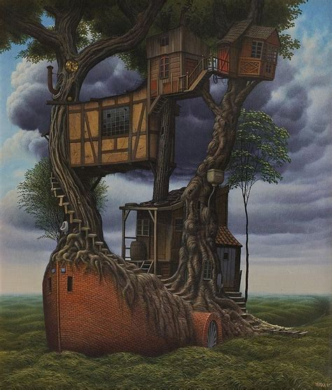 Yerka Paints Like An by 339 Best Jacek Yerka Images On Surreal
