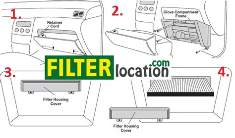 cabin filter location on 2011 nissan murano get free