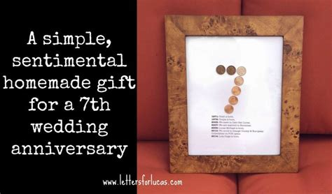 7 Ideas For An Anniversary by A Simple Gift Idea For Your 7th Wedding Anniversary What