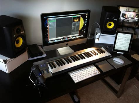 my imac home studio www thenerdboard studio
