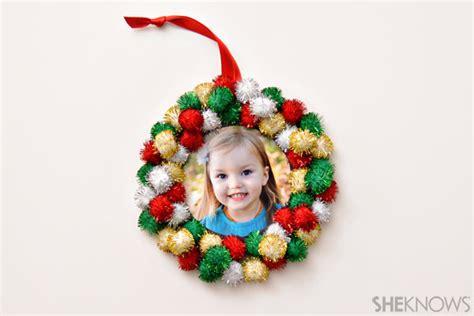 diy photo ornaments  simple   kids