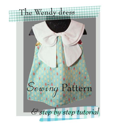 dress pattern with peter pan collar the wendy dress sewing pattern double peter pan collar