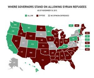 us map of states refusing refugees which states are saying no to syrian refugees pbs newshour