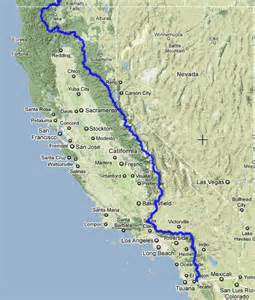 pacific crest trail california map