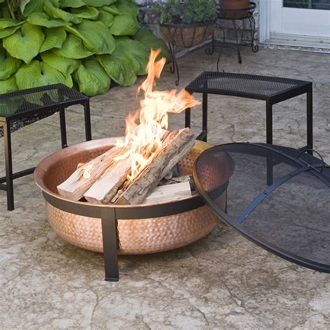 Copper Firepits 100 Real Copper Pit Cover Screen Larger Longer Fires Outdoor Patio Ebay