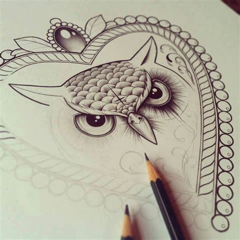 tattoo owl sketch owl drawing drawings pinterest