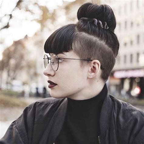 part shaved hairstyles for women 25 best ideas about shaved hairstyles on pinterest